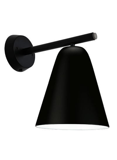 Black wall lamp