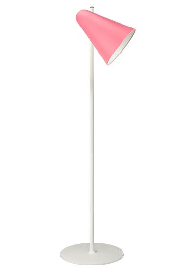 Hvid standerlampe rosa