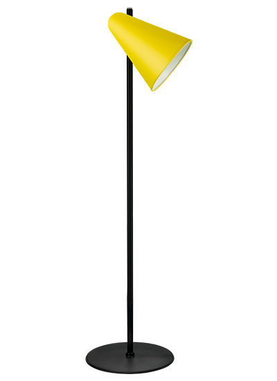 Black floor lamp zinc yellow