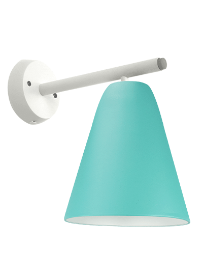 White wall lamp green