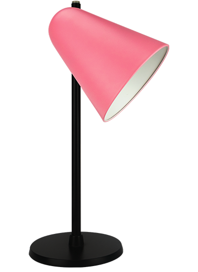 Black table lamp rose