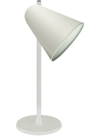 Hvid bordlampe