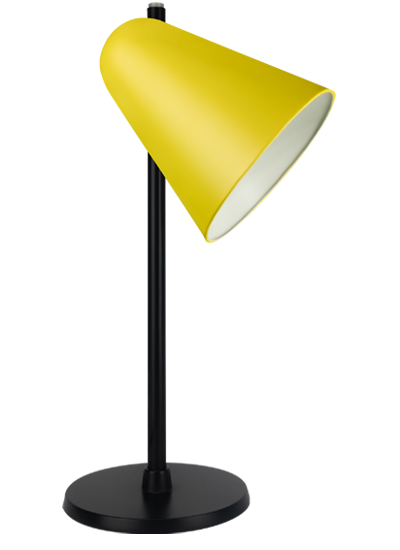 Black table lamp zinc yellow