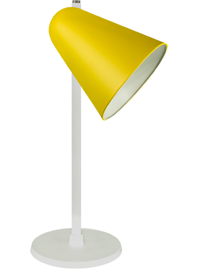 tablelamp-yellow-with-white-frame