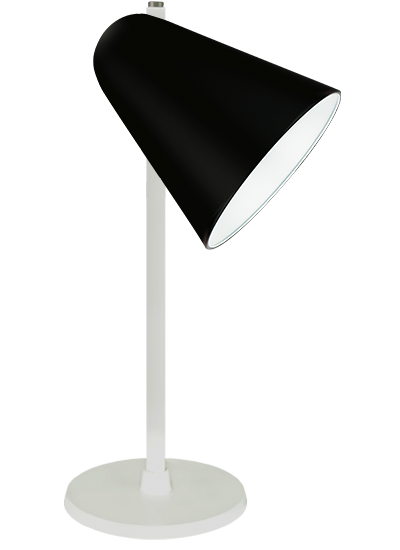 White Table lamp black
