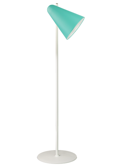 White floor lamp green