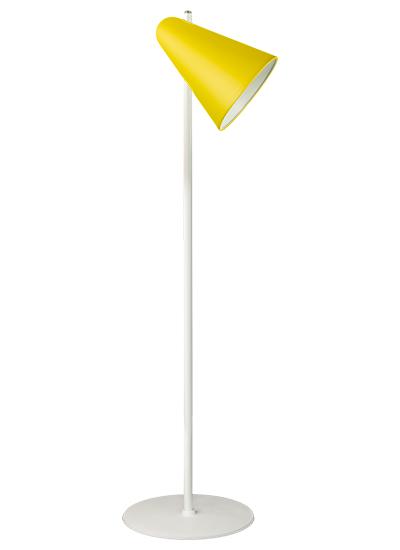 Hvid Standerlampe zink gul