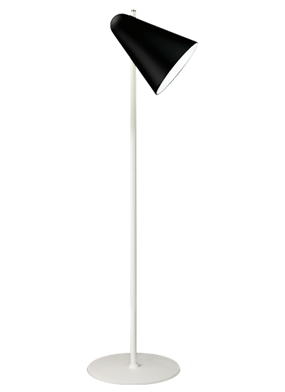 White floor lamp black