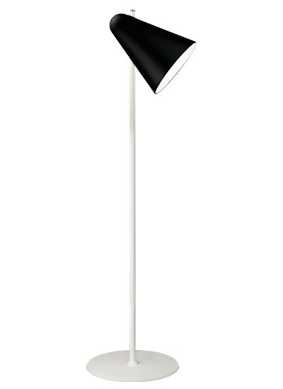 White floor lamp black