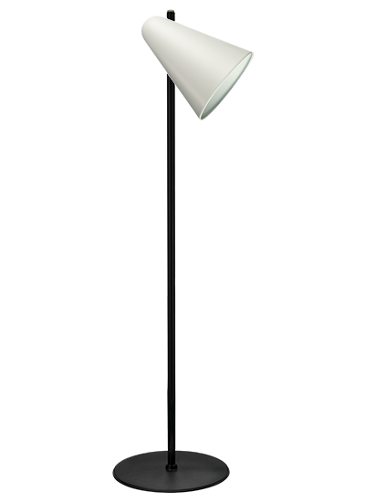 Black floor lamp white