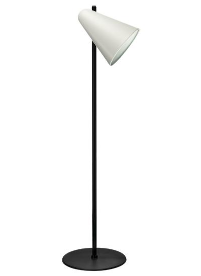Black floor lamp white