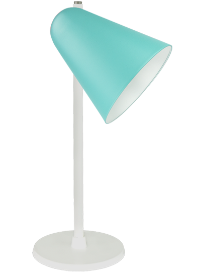 White table lamp green