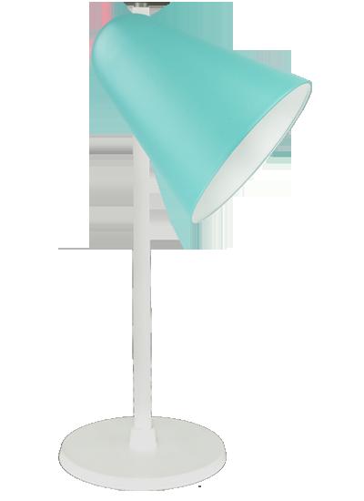 Hvid bordlampe grøn