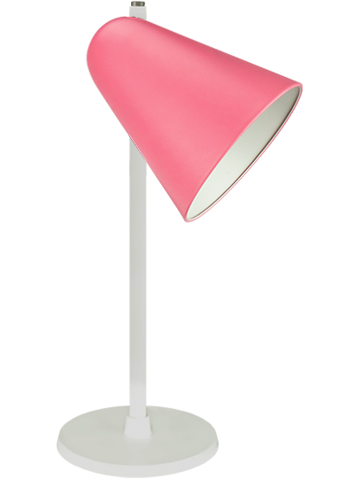 White table lamp rose