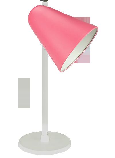White table lamp rose