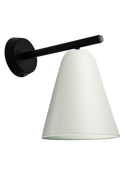 Black wall lamp white