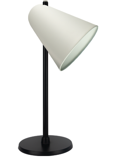 Black Table lamp white